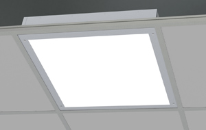 Sealed luminaire for exposed grid ceilings